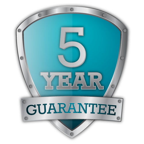 5 Year Craftsmanship Warranty